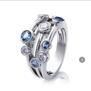 Little Something Blue, White & Silver Jeweled Ring